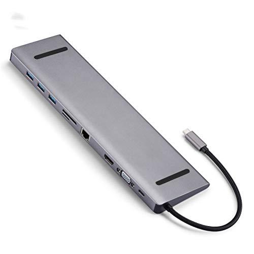 Xbai USB Type C HUB to 3.0 USB HDMI USB HUB for MacBook Pro Accessories USB Splitter Multi 10 Ports Type C HUB USB-C HUB