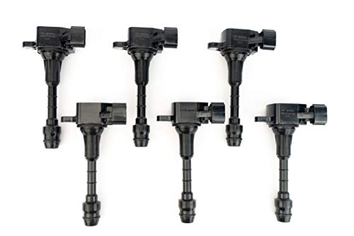 Ignition Coil Pack Set of 6 - Compatible with Infiniti FX35, G35, M35 & Nissan...