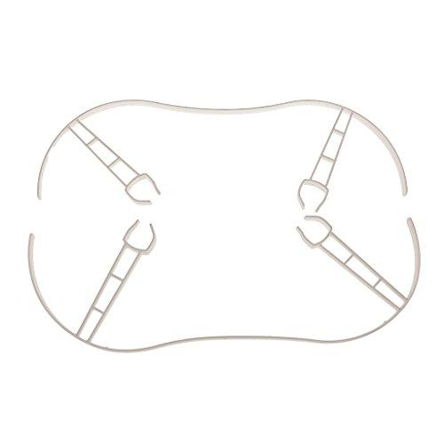 BGGZZG Protector de protección de hélice de Drone Blanco/Ajuste para Loros Bebop 2.0 apoyos Parachoques 2 Pieza