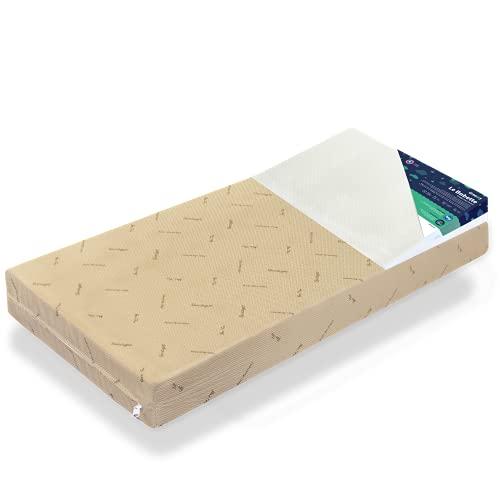 Matelas bébé Confort Ferme Le Lucette + Oreiller plan incliné Le Babette | Déhoussable | Épaisseur 12 cm (Pack Bébé 60 x 140 cm)