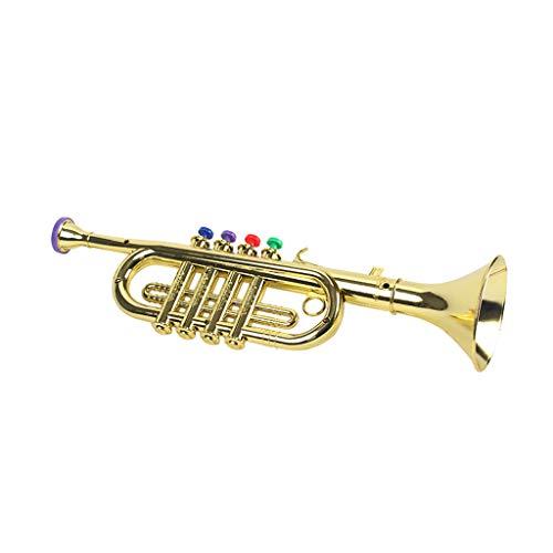 TOOGOO Kinder Plastik Trompete mit 3 Farbigen Tasten für FrüHe Entwicklung Musik P?Dagogik Spielzeug