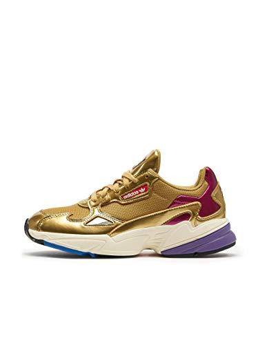 Adidas Falcon W, Zapatillas de Deporte Mujer, Dorado (Dormet/Dormet/Casbla 000), 36 1/3 EU