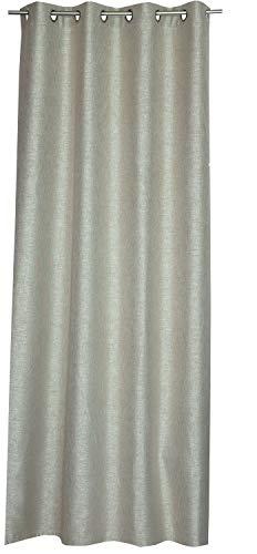 Schöner Wohnen Blackout Ösenvorhang Gardinen Vorhänge Stores - Größe 140 x 250 cm - Farbe grau/beige