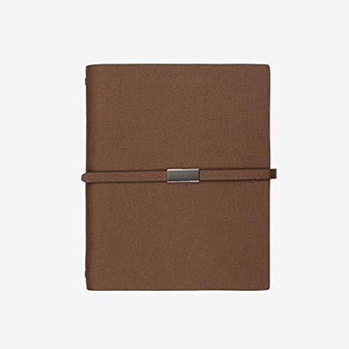 kitei Cuaderno Cuaderno Duro Cubierta Dura, clásico Regla Premium Papel Grueso Programa Diario Eficiencia Diario Trabajo 9.3x7.5 Pulgadas Diario (Color : Brown)