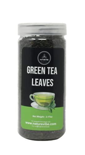 Naturevibe Botanicals Green Tea Leaves, 3.17 Ounces | 100% Pure Green Tea Loose Leaf | Premium Quality, Serves 16