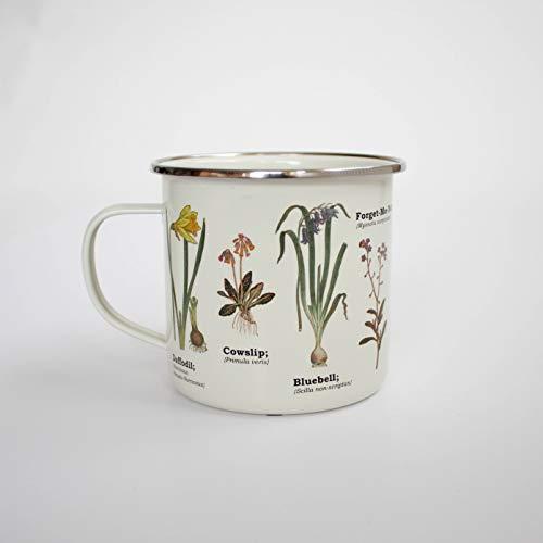 Gift Republic Wild Flower Enamel Mug, 1 Count (Pack of 1), Multicolor