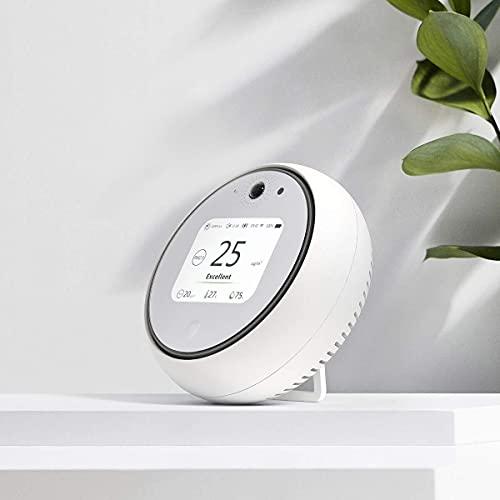 Koogeek Monitor Inteligente Wi-Fi de Calidad del Aire Interior Medidor de Temperatura Humedad Luz Sonido 2.8    Sensor de movimiento funciona con la luz nocturna de Apple HomeKit LED (medium) (medium)