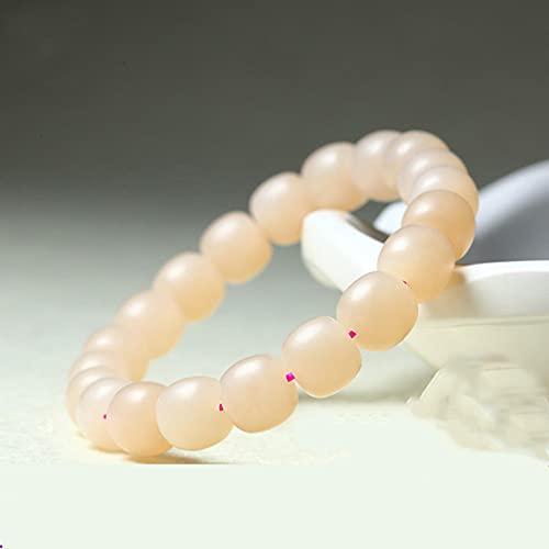 N/A Schmuck Natürliche Hetian-Jade-Lotuswurzel-Pulver-Armbänder für Männer und Frauen, weiße Jade-Perlen-Einkreis-Armbänder, warm, einfach und gener Jubiläum Muttertag Weihnachten Geburtstagsgeschenk