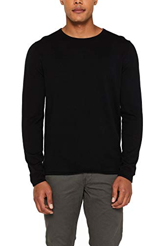 edc by ESPRIT Herren 997CC2I800 Pullover, Schwarz (Black 001), Medium