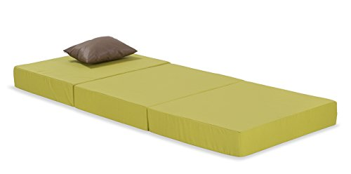 H.O.C.K. Outdoor Klappmatratze, Notbett, Gästebett, Schlafsessel oder Faltmatratze für drinnen und draussen ausgeklappt ca. 186x75x12cm (grün)