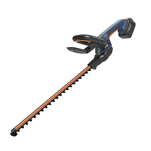 Save %23 Now! BLUE RIDGE BR8260U 40V 2.0Ah 24'' Cordless Hedge Trimmer Battery and Charger Inclu...