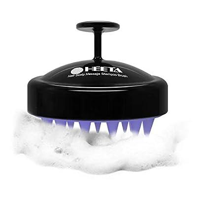 Heeta Hair Scalp Brush, Updated Wet and Dry Hair Shampoo Brush Scalp Massage Brush with Soft Silicone Rubber Brush Head