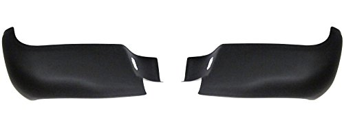 Ecoological Rear BumperShellz - Matte Black, w/o sensor holes (Bumper Cover) for 05-15 Toyota Tacoma All