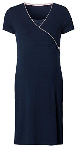 Noppies Damen Dress nurs ss Kimm 66610 Umstandsnachthemd, Mehrfarbig (Dark Blue C165), 38 (Herstellergröße: M)