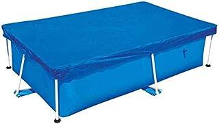 Funda Piscinas Hinchable Rectangular Cubierta Piscina 220x150x43 cm,Yobby Cobertor para Piscina Solar Cuadrada Resistente a los Rayos UV Impermeable a Prueba de Polvo y Lluvia y Viento con Cordón