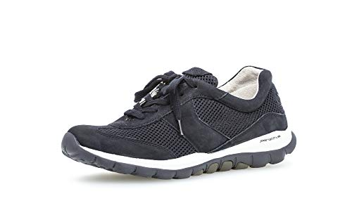 Gabor Damen Sneaker, Frauen Low-Top Sneaker,Optifit- Wechselfußbett, feminin elegant Women's Women Woman Freizeit,nightbl.(S.w/blau),40.5 EU / 7 UK