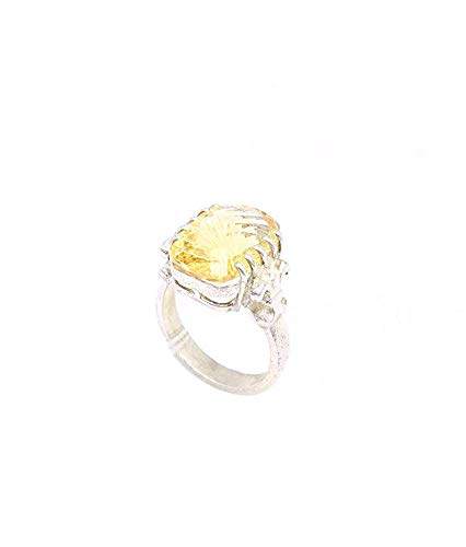 Rajasthan Gems Damen Ring 925 Sterling Silber Halbedelstein Goldtopas