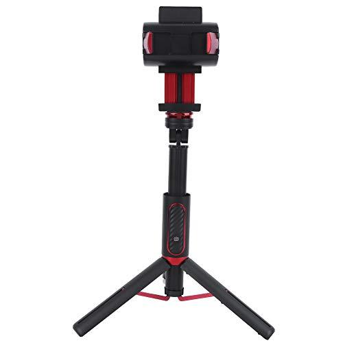 awstroe Estabilizador de Mano Capture Q Gimbal Estabilizador de Teléfono Móvil Dispositivo de Mano Monopie Multifuncional Selfie Stick Trípode de Rótula de un Solo Eje Antivibración(Negro)
