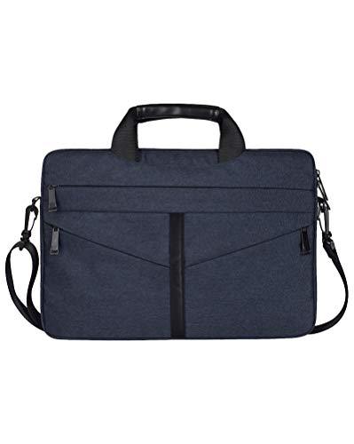 Laptop Tasche Wasserdichte Schultertasche mit Zubehör-Fächern & Tragegriff und Abnehmbarer Schultergurt Marine 13.3
