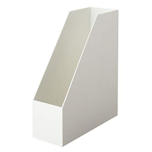 無印良品 ポリプロピレンスタンドファイルボックス・A4用・ホワイトグレー 約幅10×奥行27.6×高さ31.8cm