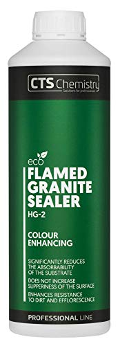 Flamed Granite Sealer HG-2 1L, Wet-Look Stone Effect, Colour Enhancing, Reduces The Absorbability of The Substrate, enhances Resistance to Dirt and Efflorescence.