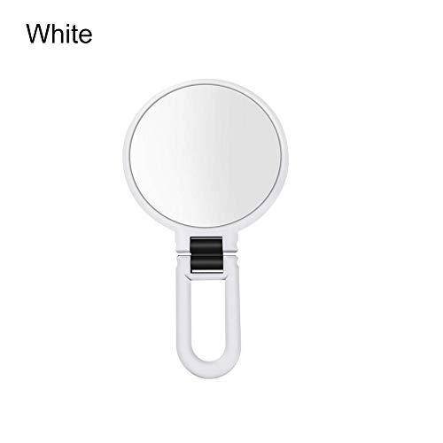 BeneU Miroir cosmétique à main double face grossissant 10X & 15X, transparent et de haute qualité, double face, rond, monté sur le mur, 13 cm, Blanc., #Größe 10#