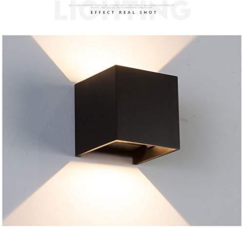RAQ 12W LED wandlamp Indoor Outdoor met instelbare stralingshoek design kubus LED tuin veranda wandlamp China zwart