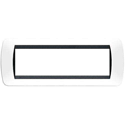 BTicino Living International L4807BA Placca 7P, Bianco Solid