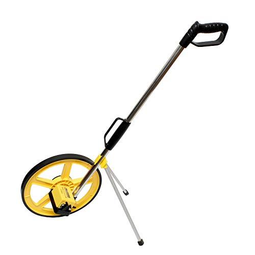 BISupply Measuring Tools Rolling Tape Measure Wheel Feet Range from 0-9,999.9ft – Distance Measuring Wheel in Feet