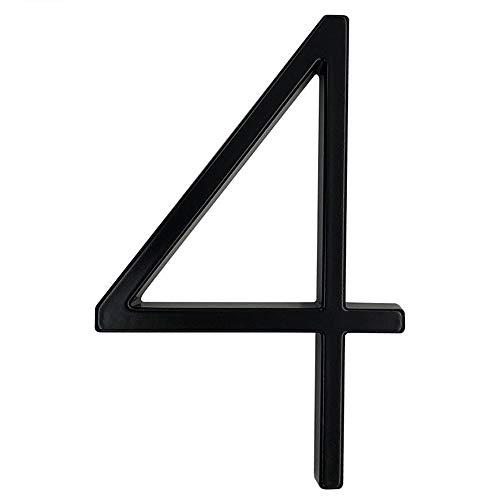 NL N/úmero de casa Placas Color : 33503PK 0-9 Letra A B C Nombre Placa de la Puerta Letras del Alfabeto Dash Raya Vertical Se/ñal 5 Inch.Zinc aleaci/ón Negro