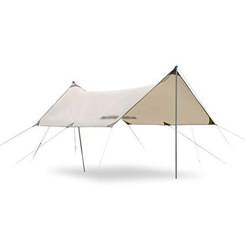 SHIJIANX Toldo de Refugio Impermeable,Toldo Camping Impermeable Lona de Playa Portátil,150D Tela Oxford Anti-UV Anti-Lluvia Duradero con Clavos y Cuerda,para Camping,Senderismo,Mochila