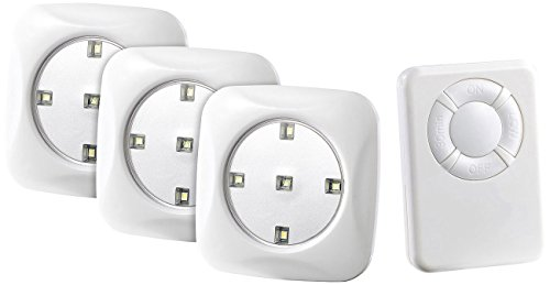 Lunartec LED Batterie: LED-Unterbauleuchte FlexiLight mit Fernbedienung, 3er-Set, erweiterbar (LED Licht mit Fernbedienung)
