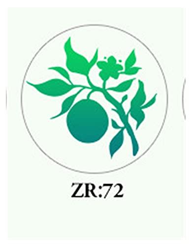YSJJTJM Sello de Lacre 1 unids Planta Sello Flor Sello 2.5 Sello de Cera Sello Retro Antiguo Sellado Cera Scrapbooking Sellos Cabezal Boda Decorativo (Color : 72)