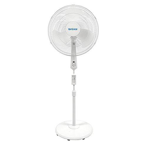 Hurricane Supreme Oscillating Stand Fan w/Remote, 18-Inch, White