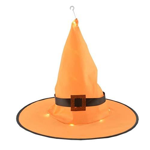 WARMWORD LáMpara Colgante De Exterior Halloween Sombrero Bruja Naranja DecoracióN para Adultos Disfraz Ropa La Cabeza Accesorios Fiesta Cosplay DecoracióN Very Well Kindly