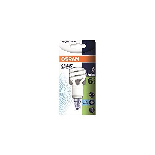Osram Dulux Twist Energiesparlampe, E14-Sockel, 12 Watt, tageslichtweiß - 6500K