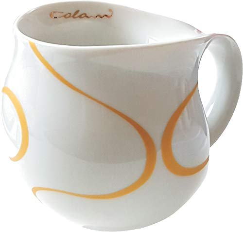 """""""gold&color"""" Luigi Colani dekorierte Kaffeetasse Becher Tasse Cappuccinotasse Kaffeebecher Loop Gold 280 ml"""