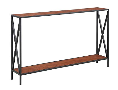 Convenience Concepts Tucson Console Table, Black / Cherry