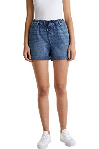 edc by Esprit Damen 040CC1C306 Jeans-Shorts, 901/BLUE Dark WASH, 27