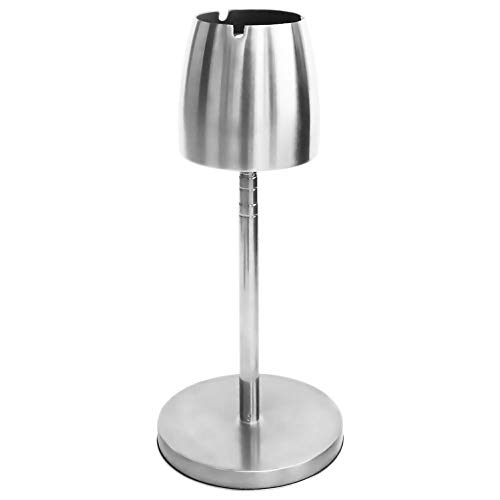 Wellz スタンド灰皿 灰皿 スタンド 大容量 高さ調節 ステンレス 防臭 洗いやすい 臭いが広がりにくい 卓上 屋外