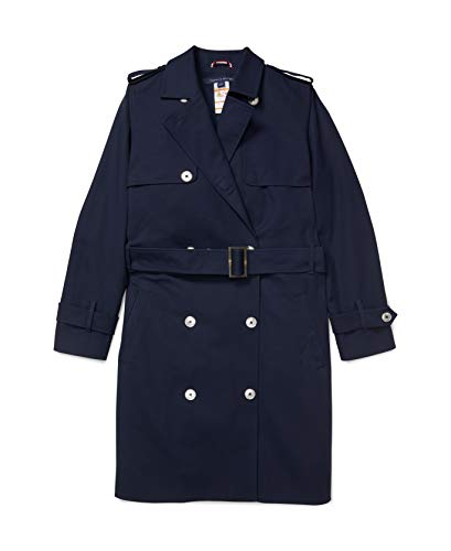 Tommy Hilfiger Damen ADP W KESTRAL Trench Trenchcoat, Masters Navy, Large