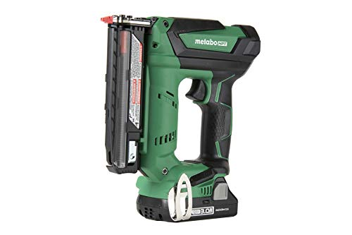 Metabo HPT Cordless Pin Nailer Kit, 18V, 23 Gauge, 5/8' up to 1-3/8' Pin Nails, 3000 Nails Per Charge, Compact 3.0 Ah Lithium Ion Battery, Lifetime Tool Warranty (NP18DSAL)