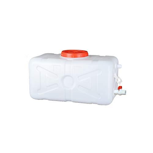 Bidones agua Automóvil Tanque De Agua 45L Depósito De Agua Con Grifo, Recipiente De Almacenamiento De Agua Horizontal De Plástico Grueso, Cubo De Almacenamiento Rectangular Con Tapa, Antienvejecimient