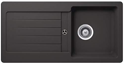 Granitspüle Victory S-VEL860 verschiedenen Farben 860 x 435 mm inkl. Drehexcentergarnitur (gray)