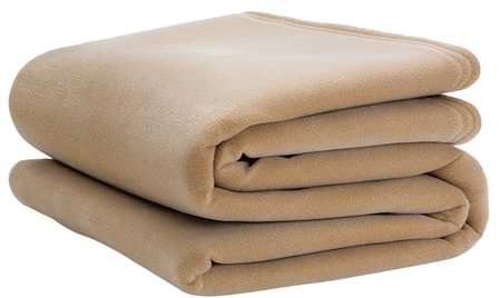 Best Prices! Blanket, Twin, 66x90 in, Tan, PK4