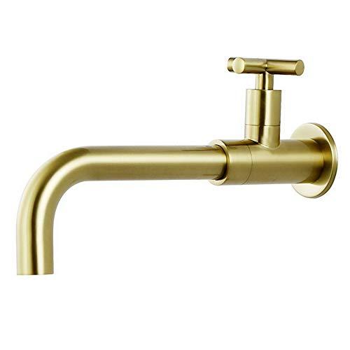 Cocina de níquel cepillado Un solo frío Longitud del grifo del grifo del grifo grifo de la cruz de la cruz del lavabo del lavabo del lavabo el mezclador del lavabo en la pared la piscina de la boca la