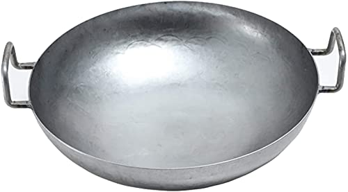 LLDKA Pfanne Aus Gastronomie Für Gasherde Durchmesser Mit Rundem Boden Für Gas, Gastronomie, Wokpfanne (Size : 32 cm)
