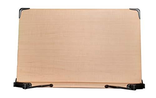 木製 ブックスタンド 大型サイズ 47cm×30cm 6段階調節 折りたたみ式 読書台 筆記台 書見台 タブレット台 レシピ台 ノートパソコン台 多用途使用 (輸入品)