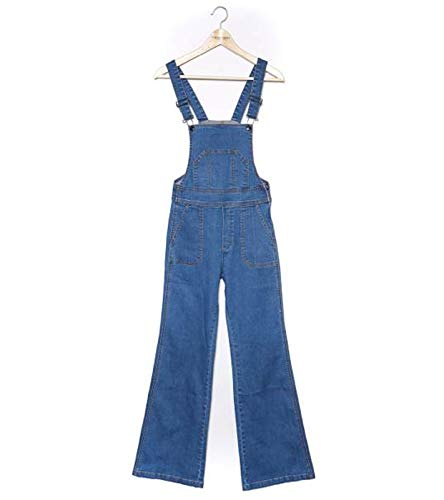 FUNKY BUDDHA Latz-Hose Coole Damen Latz-Jeans Denim Freizeithose Blau, Größenauswahl:27