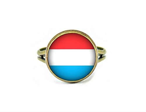 Xubu Nationale Symbool Vlag Sieraden, Luxemburg Vlag Ringen, Nationale Vlag Ringen